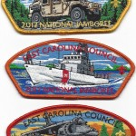 East Carolina Council 2017 National Jamboree JSP Patch Set